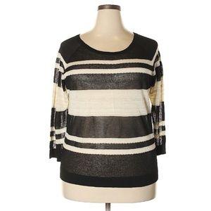 Lou & Gray Striped Mesh Sweater